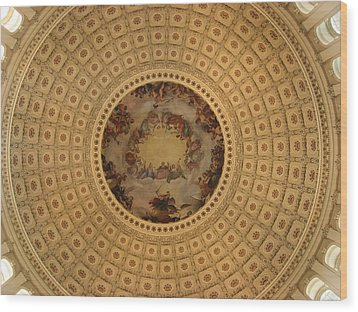 Capitol Dome Wood Print by Paul Thomas