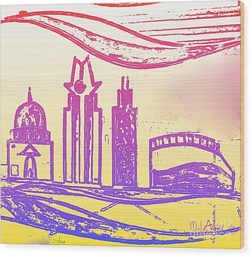 Capitol Of Texas 5 Wood Print by Mark Ansier