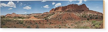 Wood Print featuring the photograph Capitol Reef Panorama No. 1 by Tammy Wetzel