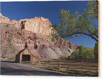 Capitol Reef Ranch Wood Print by Michael J Bauer