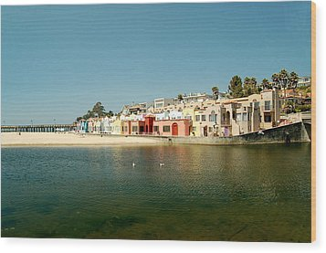 Wood Print featuring the photograph Capitola Villas by Tamyra Crossley