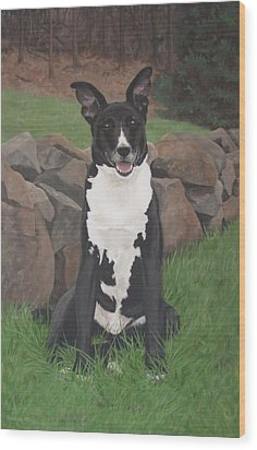 Wood Print featuring the painting Capone by Sandra Chase