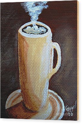 Cappuccino 3 Wood Print by Christine Huwer