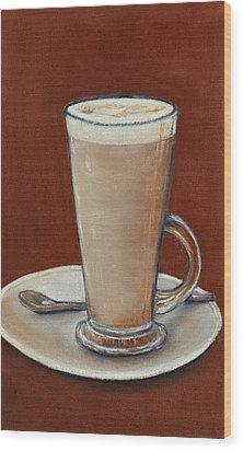 Cappuccino Wood Print by Anastasiya Malakhova