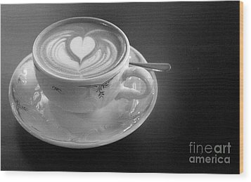 Cappuccino  Wood Print by Louise Fahy