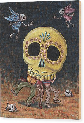 Caprichos Calaveras #2 Wood Print by Holly Wood