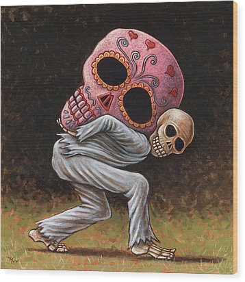 Caprichos Calaveras #4 Wood Print by Holly Wood