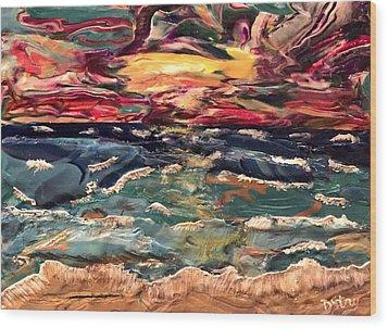 Capricious Sea Wood Print