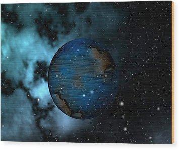 Capricorn Wood Print by Mario Carini