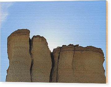 Caprock Butte Wood Print