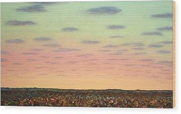 Caprock Sunrise Wood Print by James W Johnson