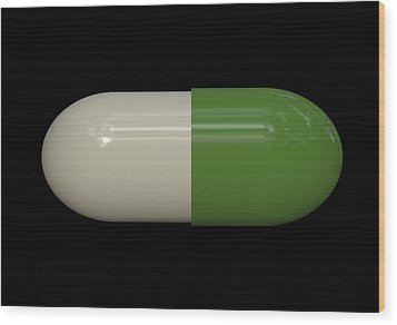 Capsule Pop Art Wood Print by Daniel Hagerman