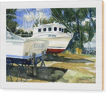 Capt. Lenny Trawler Wood Print