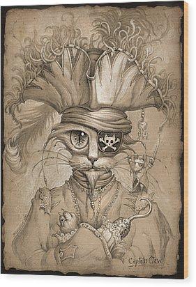 Captain Claw Wood Print by Jeff Haynie