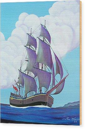 Captain Cook   Endeavor Wood Print