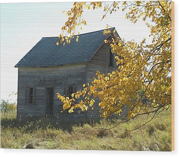 Wood Print featuring the photograph Captain Ed's Homestead by Penny Meyers