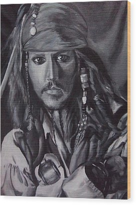 Captain Jack Sparrow Wood Print by Lori Keilwitz
