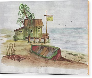 Wood Print featuring the painting Captain Jacks by Jack G  Brauer