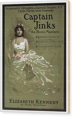 Captain Jinks Wood Print