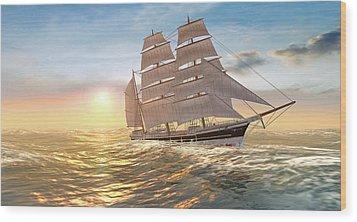 Captain Larry Paine Clippership Wood Print