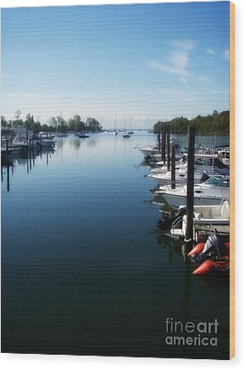 Wood Print featuring the photograph Captain's Cove by Kristine Nora