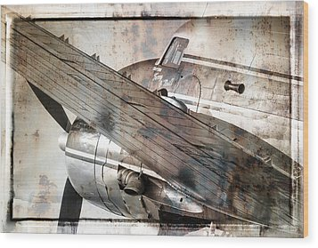 Wood Print featuring the photograph Captain's Flight by Steven Bateson