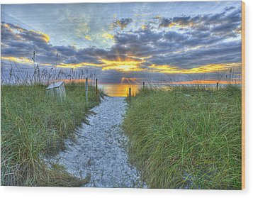 Captiva Sunset Wood Print