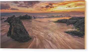 Captivating Kihei Wood Print by Hawaii  Fine Art Photography
