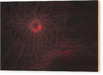 Wood Print featuring the digital art Captive Soul by GJ Blackman