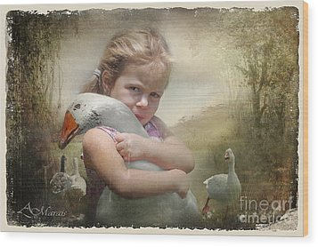 Captured Memories-not The Perfect World Wood Print by Adelita Rog