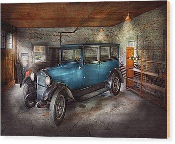Car - Granpa's Garage  Wood Print by Mike Savad