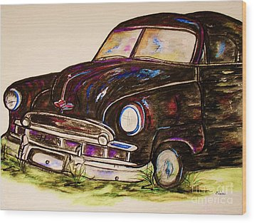 Car Of Character Wood Print by Eloise Schneider