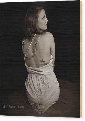 Cara Toes Wood Print by Miriam Tiritilli