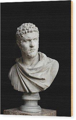 Caracalla. 212 - 217. Bust. Sculpture Wood Print by Everett