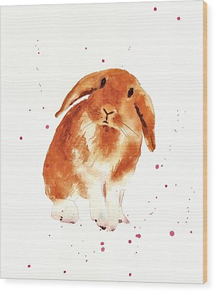 Caramel Cuddles Bunny Wood Print by Alison Fennell