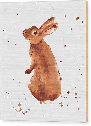 Caramella Bunny Wood Print by Alison Fennell