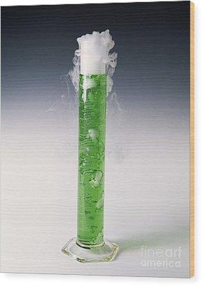 Carbon Dioxide Gas Wood Print by Martyn F. Chillmaid