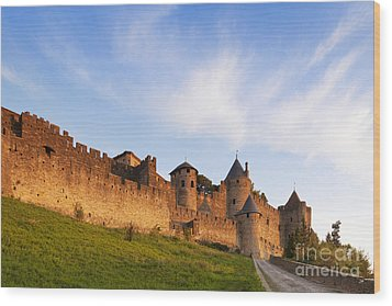 Carcassonne Languedoc Roussillon France Wood Print by Colin and Linda McKie