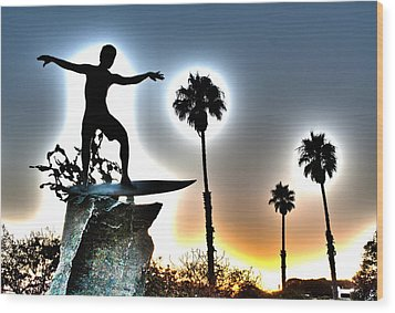 Cardiff Kook Wood Print by Ann Patterson