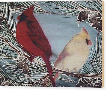 Cardinals Wood Print