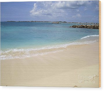 Wood Print featuring the photograph Caribbean Beach Front by Fiona Kennard
