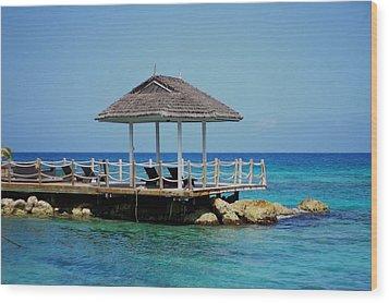 Caribbean Breeze Wood Print by Randy Pollard