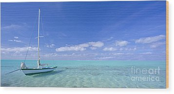 Caribbean Chill Time Wood Print by Marco Crupi