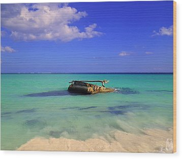 Wood Print featuring the photograph Caribbean Colors  by Eti Reid