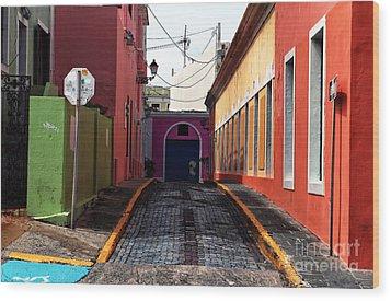 Caribbean Colors Of San Juan Wood Print by John Rizzuto