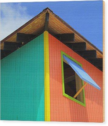 Caribbean Corner 1 Wood Print by Randall Weidner