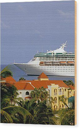 Caribbean Cruise Wood Print by Dennis Cox WorldViews