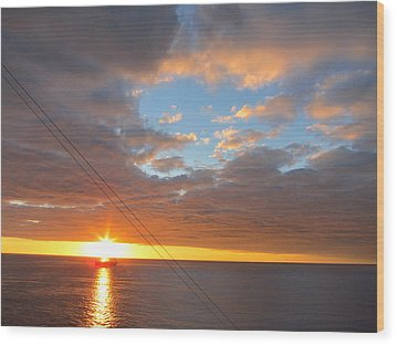 Caribbean Cruise - On Board Ship - 1212176 Wood Print by DC Photographer