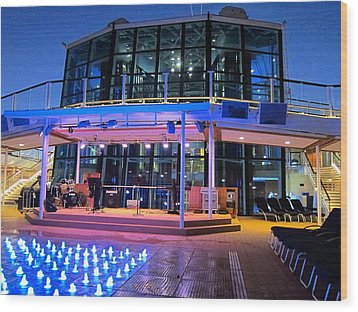 Caribbean Cruise - On Board Ship - 121238 Wood Print by DC Photographer