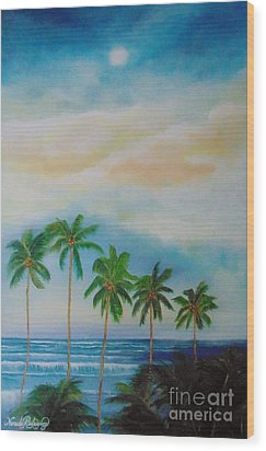 Wood Print featuring the painting Caribbean Dream by Nereida Rodriguez